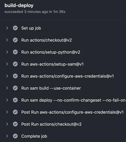 GitHub Actions progress