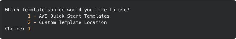 SAM: choose a template source