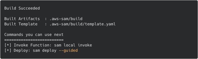SAM: build results