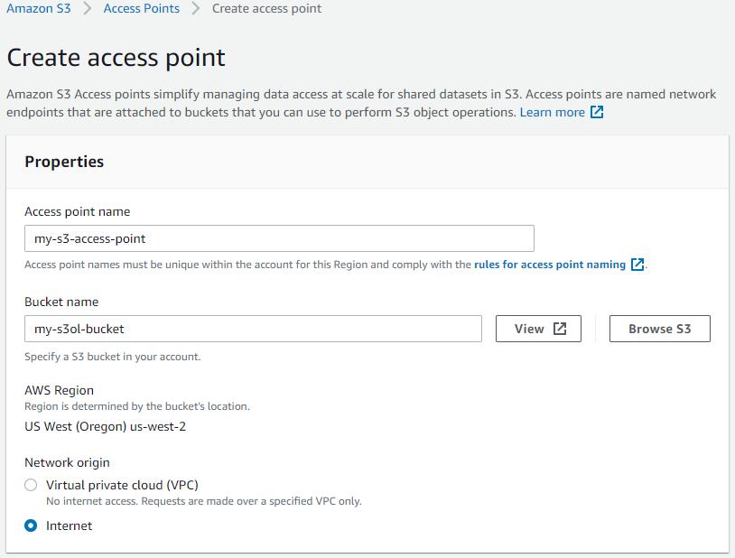 Create access point