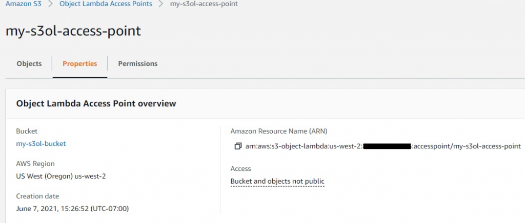 Object Lambda Access Point
