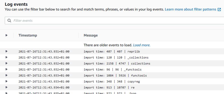 Python import time