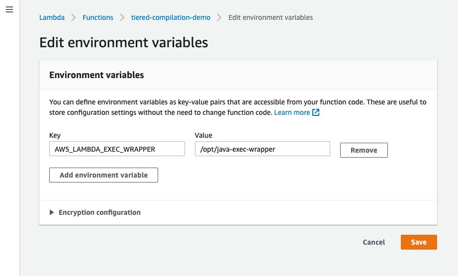 Edit environment variables