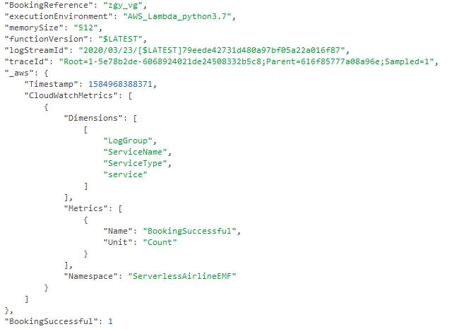 Custom metric structured log entry
