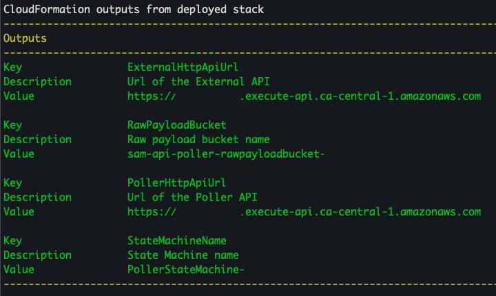 CloudFormation outputs