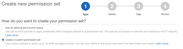 Create permission set workflow