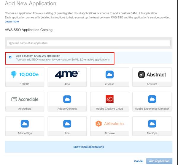 Add a custom SAML 2.0 application