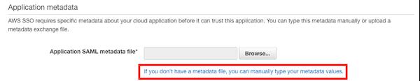 Application metadata