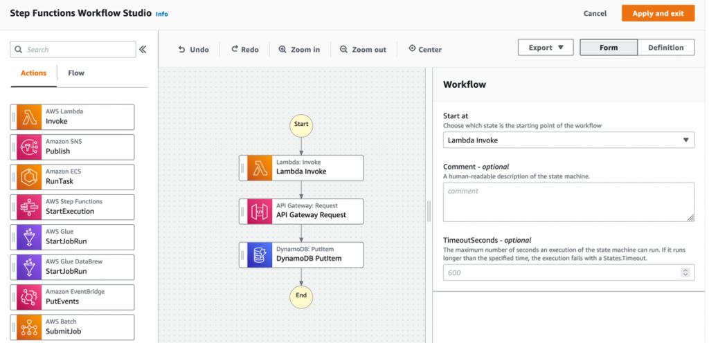 Step Functions Workflow Studio