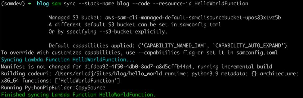 SAM sync specific resource