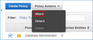 "Screenshot of choosing ""Attach"" from drop-down list"