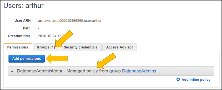 Screenshot of the changed user details page