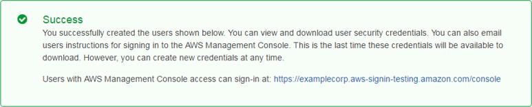 """Screenshot of the """"Success"""" message"""