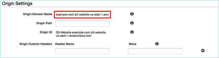 Screenshot of Origin Domain Name