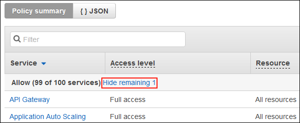 """Screenshot showing the """"Hide remaining 1"""" link"""