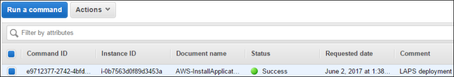 Status showing the binaries have been installed successfully