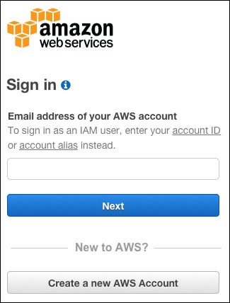 Step 1: Sign in as a root user or IAM user