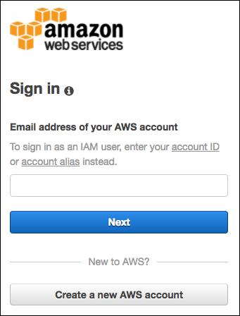 Connexion au compte AWS