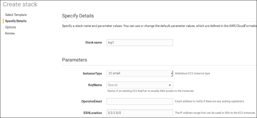 "Screenshot of the ""Specify Details"" page"