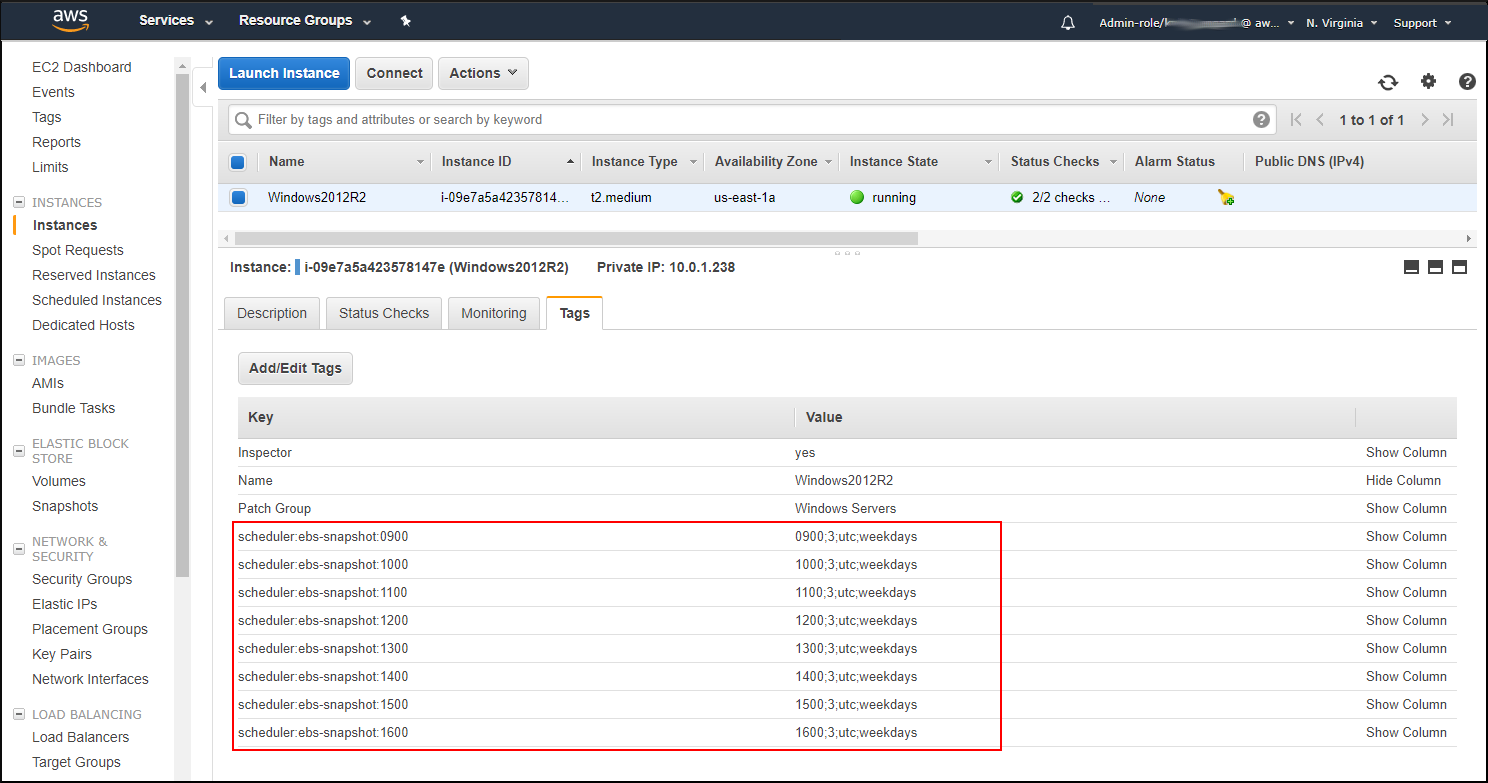 Screenshot of how your EC2 instance should look in the console
