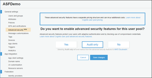 "Screenshot of the ""Advanced security"" tab"