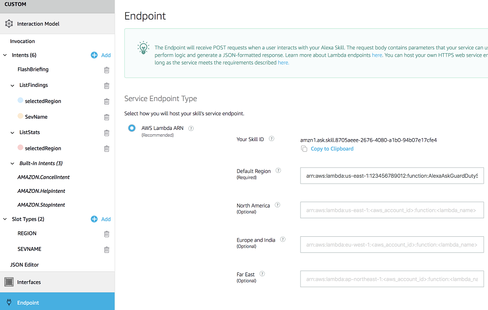 Endpoint interface