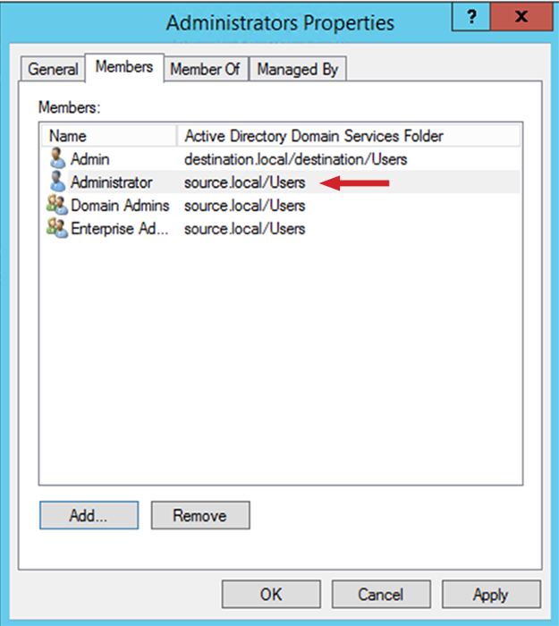 "Figure 3: the ""Administrator's Propoerties"" dialog box"
