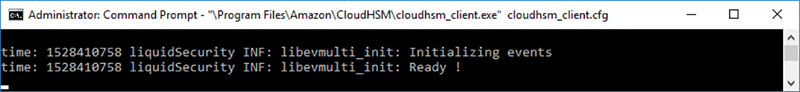Figure 4: CloudHSM client output