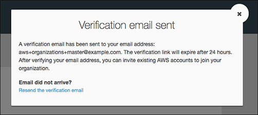 Figure 2: Confirmation of verification email