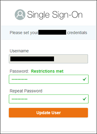 Figure 16: User Portal sign-in