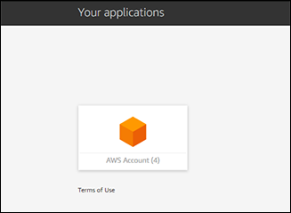Figure 17: View of AWS Account icon from User Portal