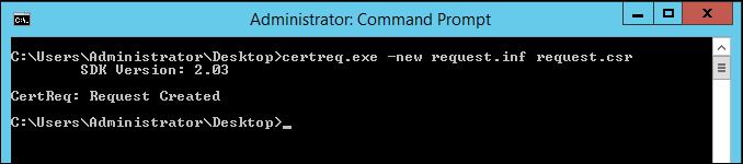 Figure 2: The output of certreq.exe