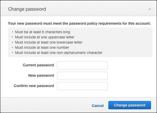 Figure 4: How to change your password
