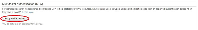 Figure 9: How to view MFA settings