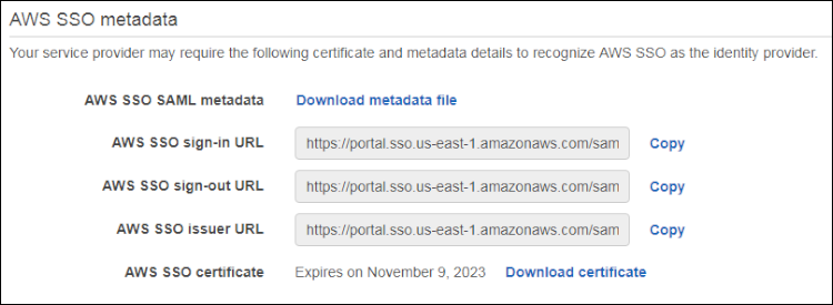 "Figure 10: Select ""Download metadata file"""