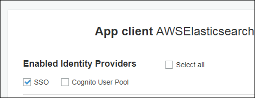 "Figure 12: Uncheck ""Cognito User Pool"""