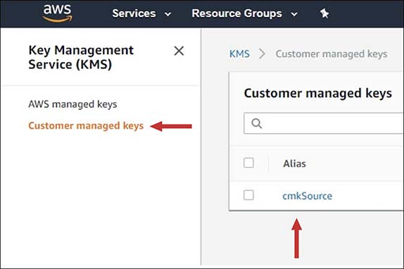 "Figure 1: Select ""cmkSource"""
