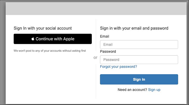 "Figure 3: ""Continue with Apple"" button"