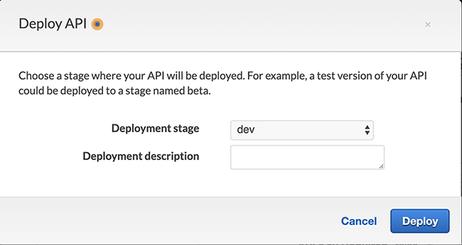 Figure 5: Deploy your API stage