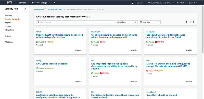 Figure 4: AWS Foundational Security Best Practices controls page