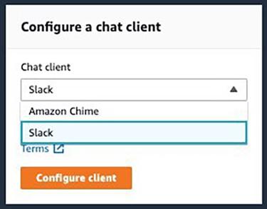 Figure 2: Configure a chat client
