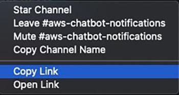Figure 5: Copy link from the desktop client