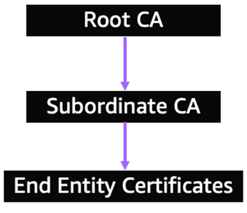 Figure 1: An example of a certificate authority hierarchy