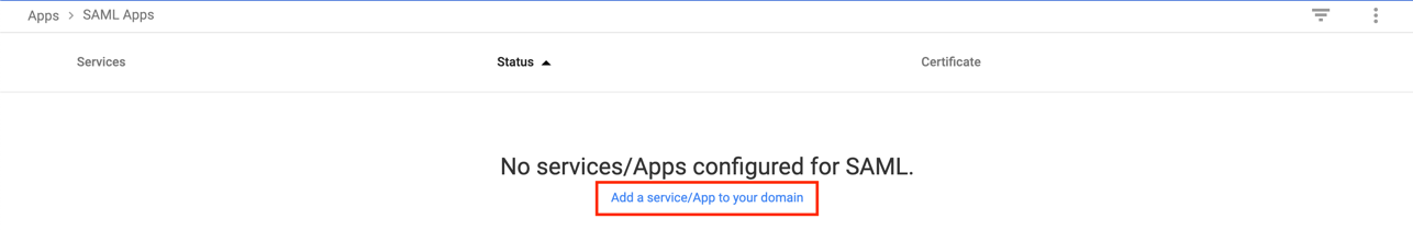 Figure 7: Add a service or app