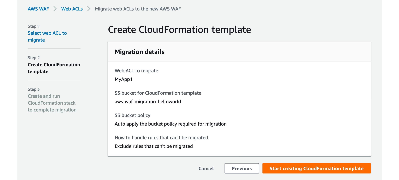 Figure 4: Create CloudFormation template