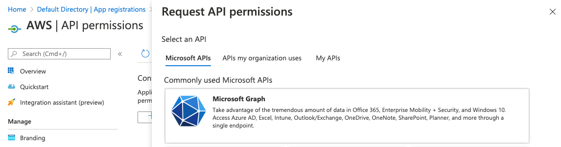 Figure 4: Request API permissions