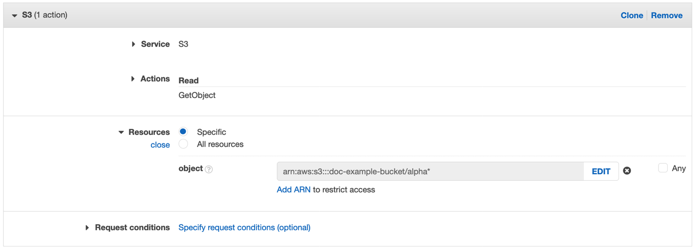 Figure 6: ARN added for S3 object