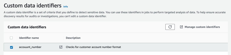Figure 32: Custom data identifiers