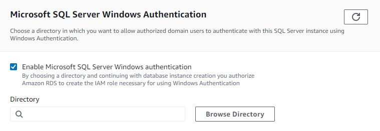 Figure 5: Enable Microsoft SQL Server Windows authentication selected