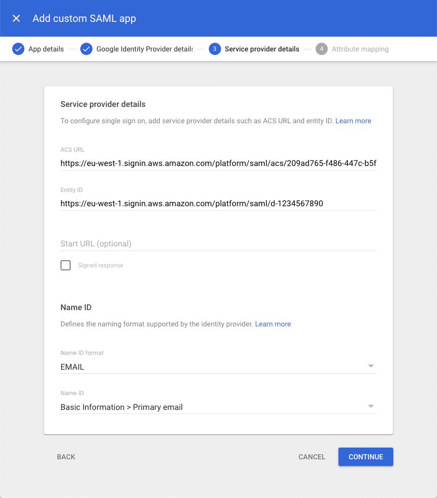 Figure 9: Add service provider details